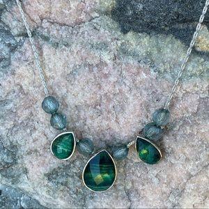 ⚡️Emerald look dew drop necklace